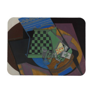 Juan Gris - Checkerboard and Playing Cards Rectangular Photo Magnet