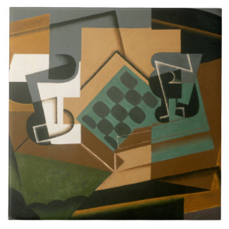 Juan Gris - Chessboard, Glass, and Dish Ceramic Tile