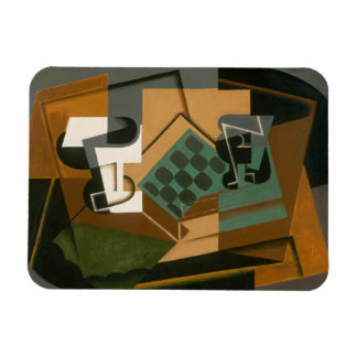 Juan Gris - Chessboard, Glass, and Dish Magnet
