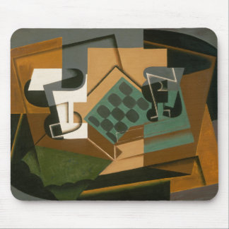 Juan Gris - Chessboard, Glass, and Dish Mouse Pad