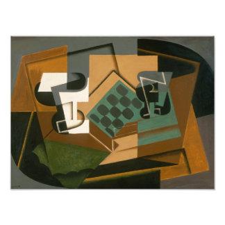Juan Gris - Chessboard, Glass, and Dish Photo Print