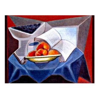 Juan Gris - Fruit and Book Postcard