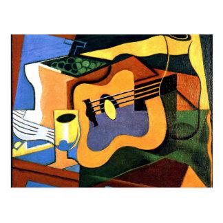Juan Gris - Guitar and Bottle Postcard