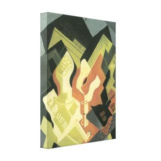 Juan Gris - Guitar and Fruit Bowl Stretched Canvas Print