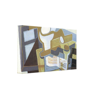 Juan Gris - Guitar and Fruit Bowl Gallery Wrapped Canvas