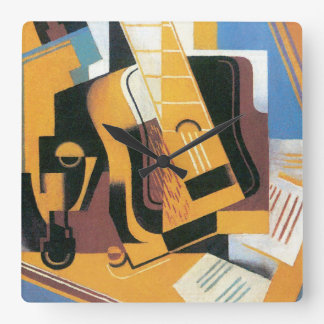 Juan Gris - Photograph of The Guitar Abstract Art Wall Clocks
