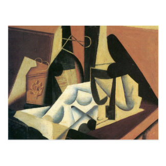 Juan Gris - Still Life with a white tablecloth Postcard