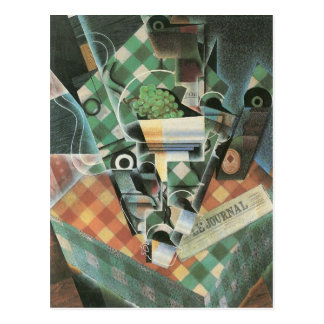 Juan Gris - Still Life with checked tablecloth Postcard