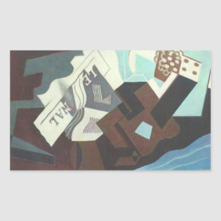 Juan Gris - Still Life with guitar book and newspa Stickers