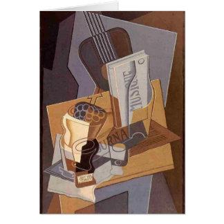 Juan Gris- The Book of Music Card