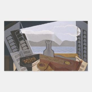 Juan Gris - The Open Window Rectangular Sticker