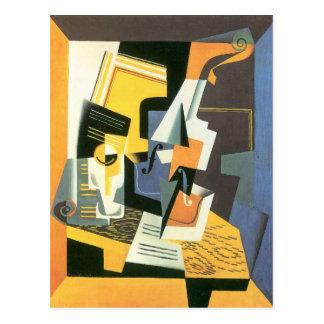 Juan Gris - Violin and Glass Postcard