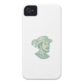 Juan Ponce de Leon Explorer Drawing Case-Mate iPhone 4 Case