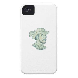 Juan Ponce de Leon Explorer Drawing iPhone 4 Cases