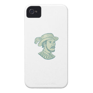 Juan Ponce de Leon Explorer Drawing iPhone 4 Cases