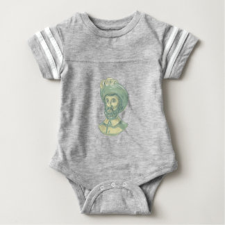 Juan Sebastian Elcano Bust Drawing Baby Bodysuit