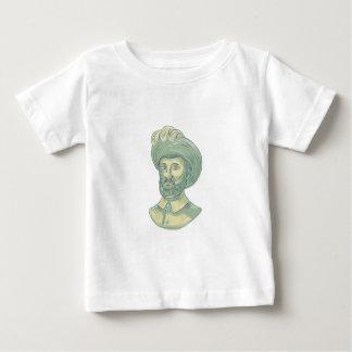 Juan Sebastian Elcano Bust Drawing Baby T-Shirt