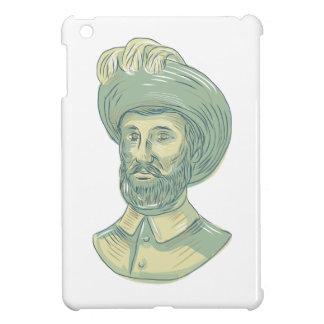 Juan Sebastian Elcano Bust Drawing iPad Mini Covers