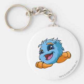 JubJub Blue Basic Round Button Key Ring