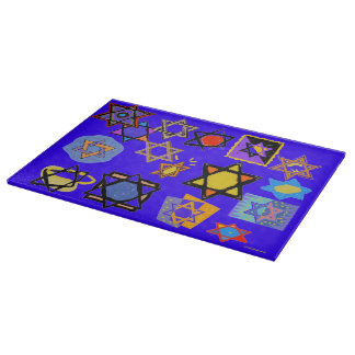 Judaic Kitchen Designer Items- Glass Cutting Board