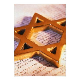JUDAIC STAR OF DAVID BAT BAR MITZVAH INVITATION