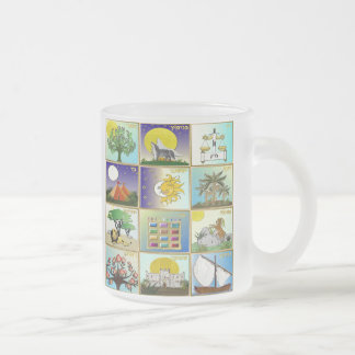 Judaica 12 Tribes Of Israel Art Print Frosted Glass Coffee Mug