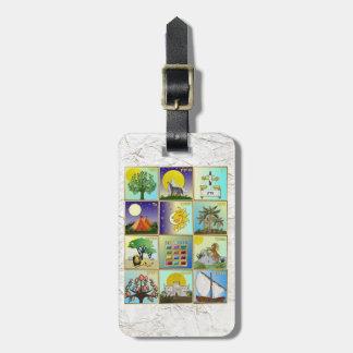 Judaica 12 Tribes Of Israel Art Print Luggage Tag