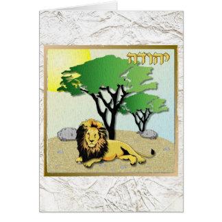 Judaica 12 Tribes Of Israel Judah Card