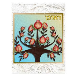 Judaica 12 Tribes Of Israel Reuben Postcard