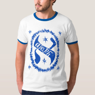 Judaica Distressed Glowing Aleph Royal T-Shirt