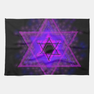 Judaica,... glowing in darkness tea towel