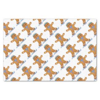 Judaica Hanukkah Gingerbread Man Menorah Tissue Paper