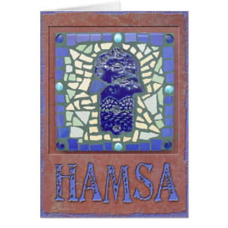 Judaica: Mosaic Glowing Hamsa Card