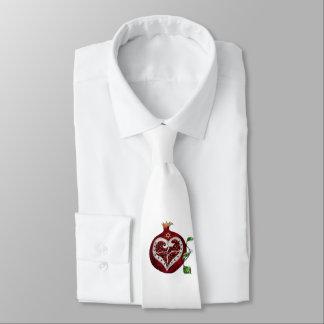 Judaica Pomegranate Heart Hanukkah Rosh Hashanah Tie