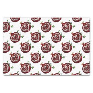 Judaica Pomegranate Heart Hanukkah Rosh Hashanah Tissue Paper
