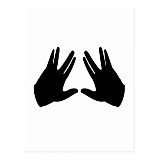 Judaism Kohen Hands Symbol Postcard