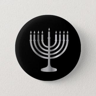 Judaism Menorah 6 Cm Round Badge