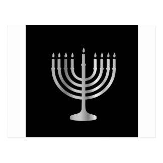Judaism Menorah Postcard