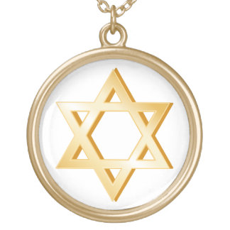Judaism Symbol Gold Plated Necklace