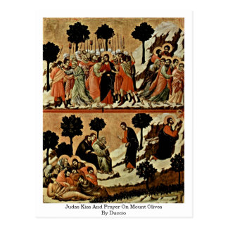 Judas Kiss And Prayer On Mount Olives By Duccio Postcard
