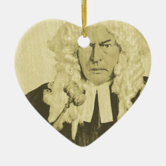 Judge Ceramic Heart Decoration