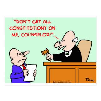 judge constitution post cards