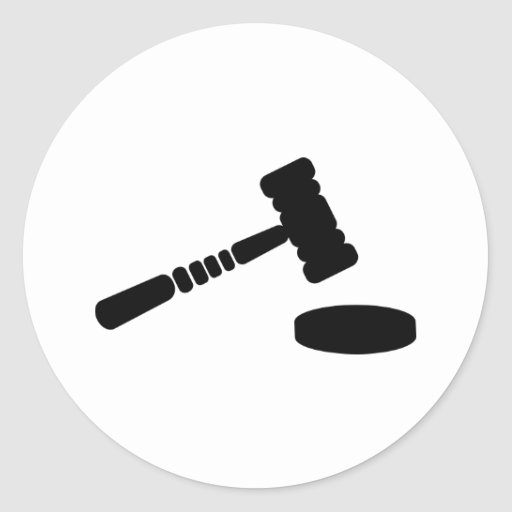 Judge hammer stickers