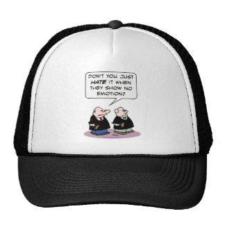 judge hate show no emotion trucker hat