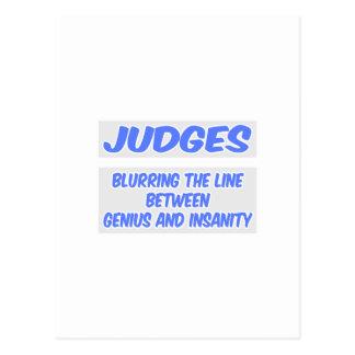 Judge Joke .. Genius and Insanity Post Card