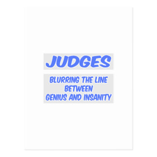 Judge Joke .. Genius and Insanity Postcard