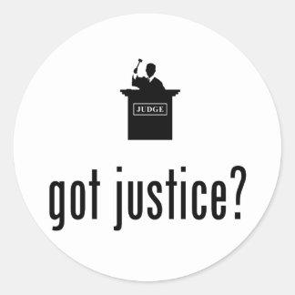 Judge Round Sticker