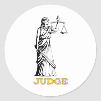 JUDGE ROUND STICKER