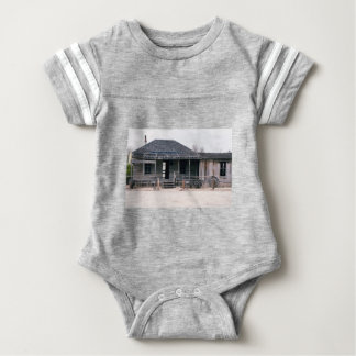 Judge Roy Bean Courthouse and Jail Replica Baby Bodysuit