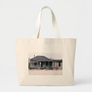 Judge Roy Bean Courthouse and Jail Replica Large Tote Bag